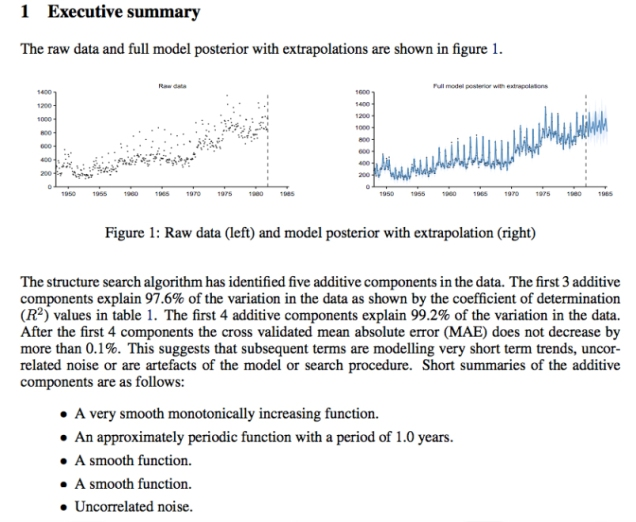 A snippet of an Automatic Statistician report on unemployment data.