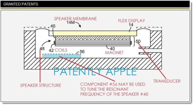 display speaker patent apple